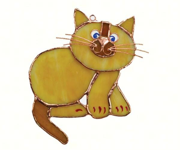 Tan Cat-Sun Catcher-Outdoor Decor