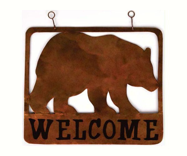Welcome Sign-Bear-The Rustic Look