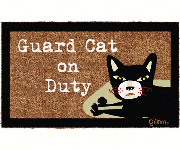Welcome Mat-29.5x17.75-Guard Cat