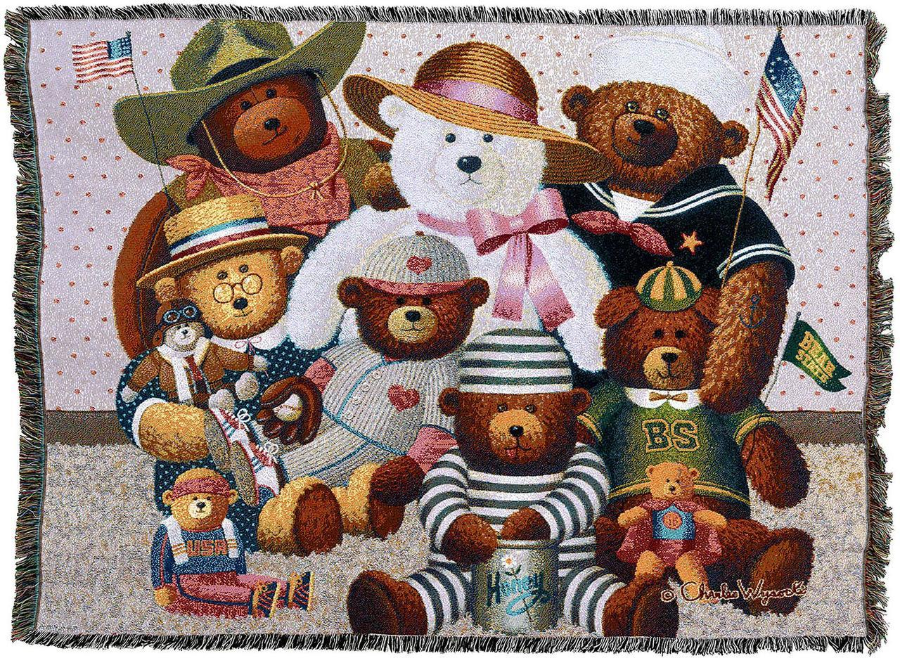 Throw Blanket-54 x 72-Woven-Babies-Children-The Gangs All Here