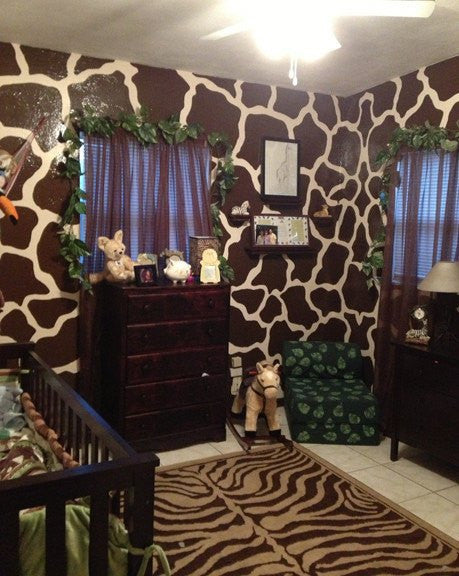 Giraffe Spots, a DIY Paint by Number Wall Mural by Elephants on the Wall - Seasonal Expressions - 4