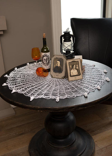 "Halloween-Table Topper-Tablecloth-Seasonal Decor-36"" Round-Gothic"