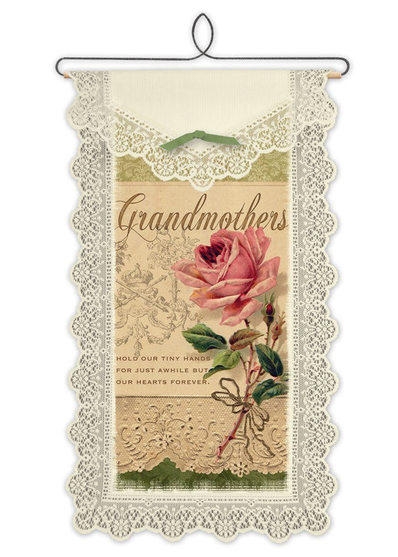 Wall Hanging-Grandmother-Hold Hands-Heritage Lace