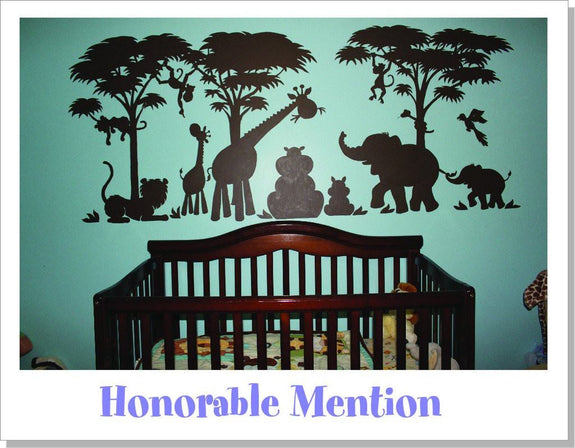 Silhouette Safari, a DIY Paint by Number Wall Mural by Elephants on the Wall - Seasonal Expressions - 9