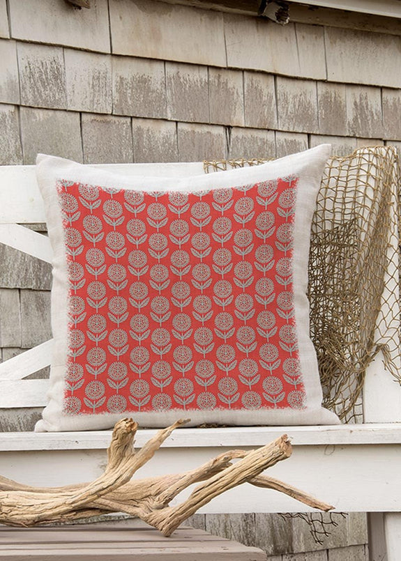 Throw Pillow-18 x 18-The Cozy Home-Heritage Lace-Happy Day-All Over