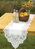Table Linen-Runner-Dresser Scarf-Set of 2-Heirloom-Heritage Lace
