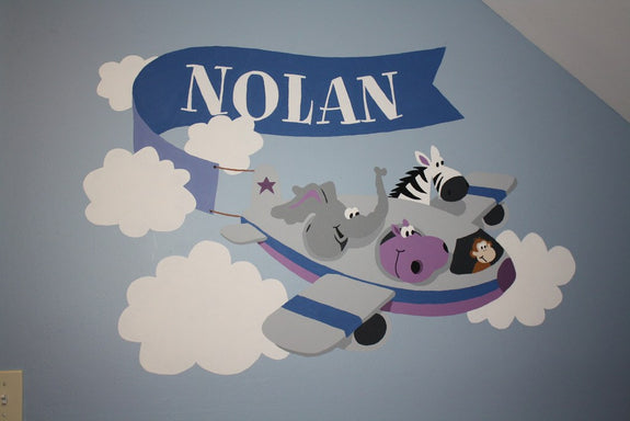 Hi Flyin' Fun, a DIY Paint by Number Wall Mural by Elephants on the Wall - Seasonal Expressions - 2