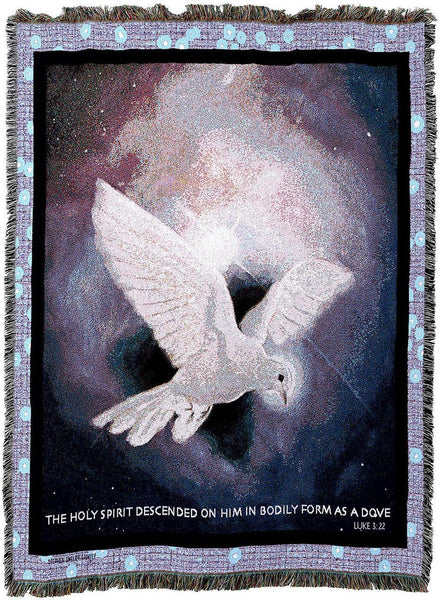 Christian Decor-Throw Blanket-54 x 72-Holy Spirit-White Dove