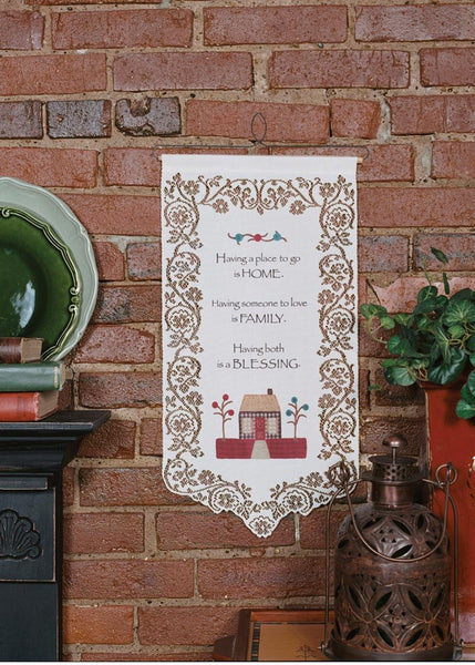 Home, Family, Blessing Wallhanging from Heritage Lace - Seasonal Expressions - 1