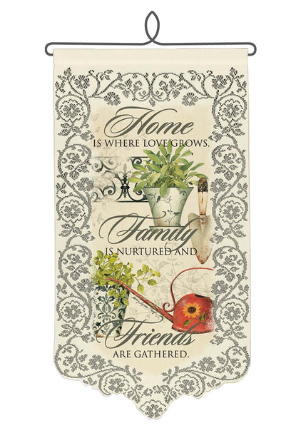Wall Hanging-Home-Family-Friends-Heritage Lace
