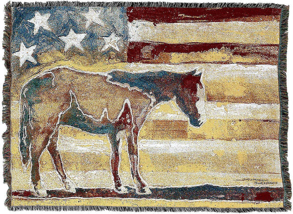 Throw Blanket-54 x 72-Animal Lover-Americana-Western Horse