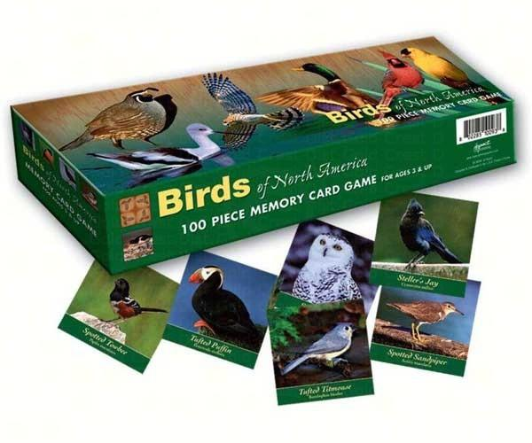 Educational-Memory Card Family Game-Birds of North America