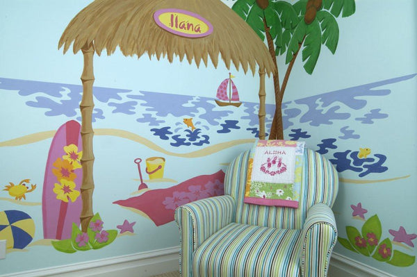 Ilana's Beach Shack DIY Paint by Number Wall Mural by Elephants on the Wall - Seasonal Expressions - 1