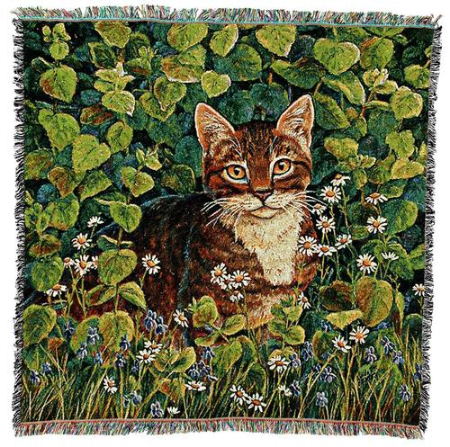 Throw Blanket-54 x 54-Animal Lover-Kitten-Lemon Balm-Cat