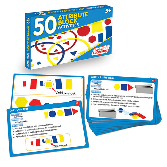 Educational-Math-50 Activities-Attribute Blocks
