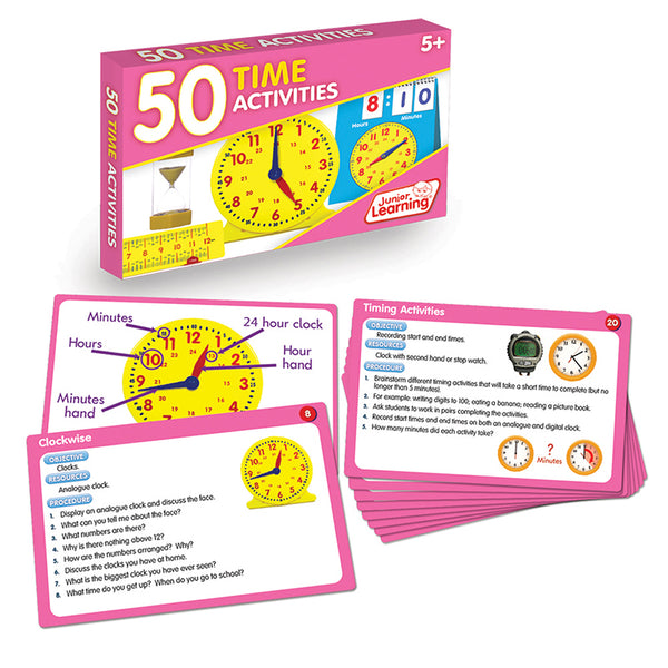 Educational-Math-50 Activities-Time