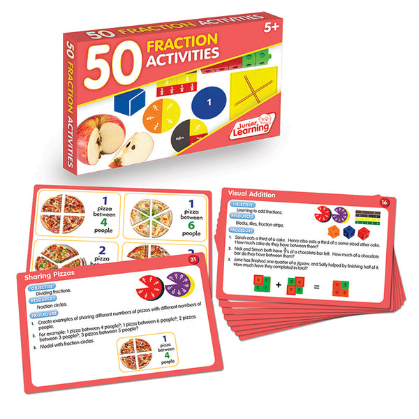 Educational-Math-50 Fraction Activities