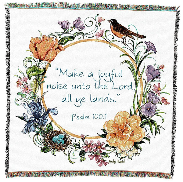 Christian Decor-Throw Blanket-53 x 53-Make A Joyful Noise