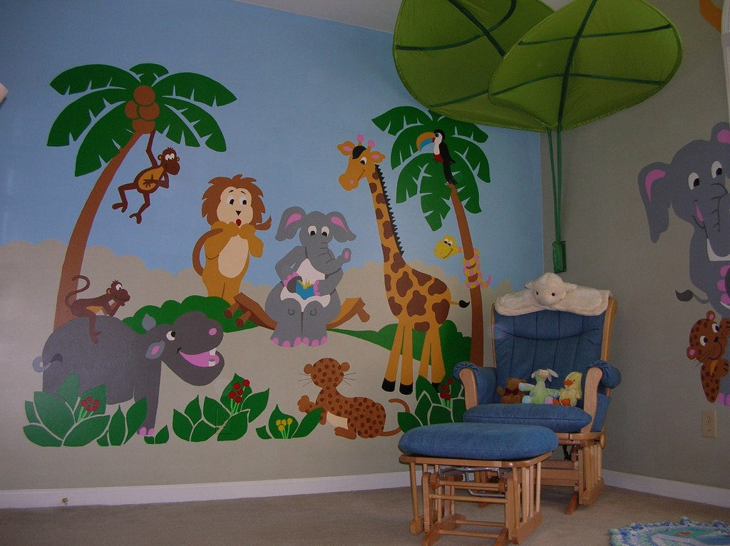 Jungle Story, a DIY Paint by Number Wall Mural by Elephants on the Wall - Seasonal Expressions - 3