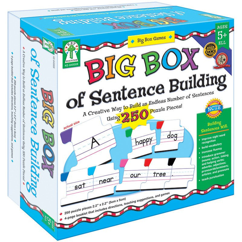 Language Arts-Educational Game-Big Box of Sentence Building- Ages 5 Plus