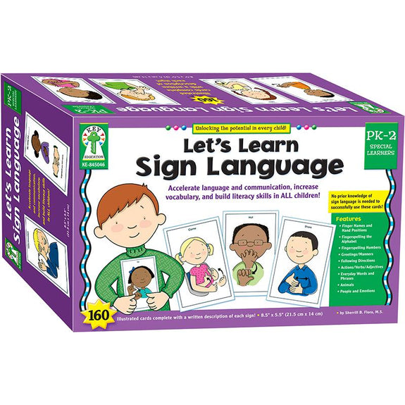 Let's Learn Sign Language-Learning Cards