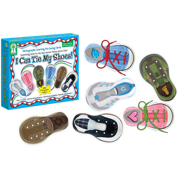 Early Learning-Lacing Cards-I Can Tie My Shoes