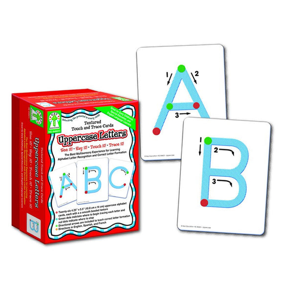 Textured Touch and Trace Uppercase Letters for Ages 5-9 - Seasonal Expressions