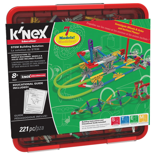 Educational-Physical Science-Machines-Knex Wheels-Axles-Inclined Planes-Ages 8 Plus