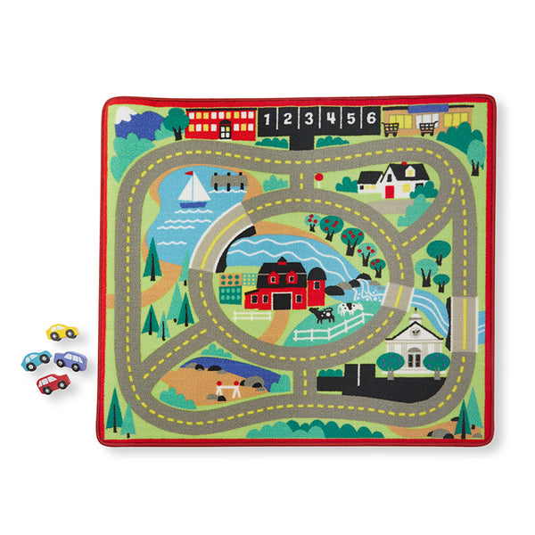 Kid's Rug-Round the Town Road-Car Set-Grade K-2-Early Childhood-Kids Decor