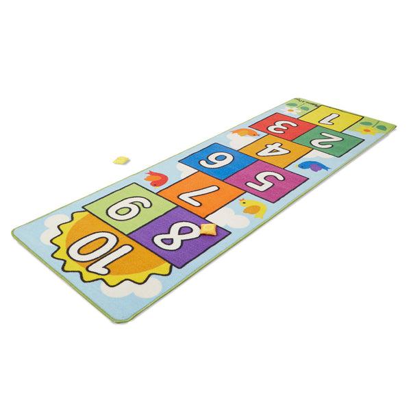 Fitness Fun-Active Children-Hopscotch-Skid-Proof-Rug