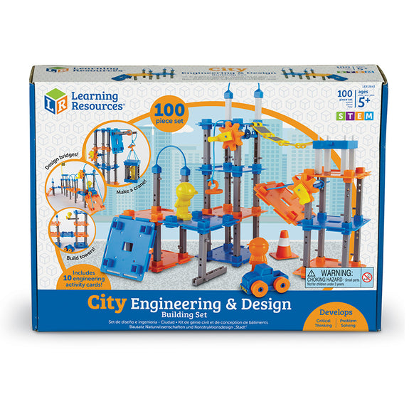 Design and Build-Creative Children-City Builder Engineering Set