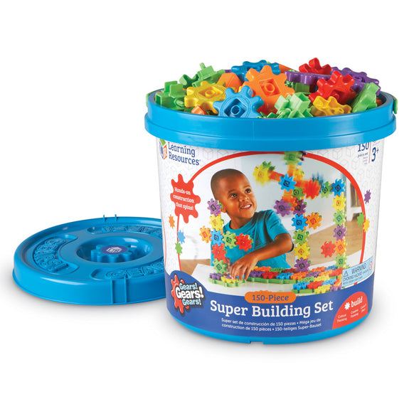 Design and Build-Educational-Gears-100 OR 150 Piece Super Set
