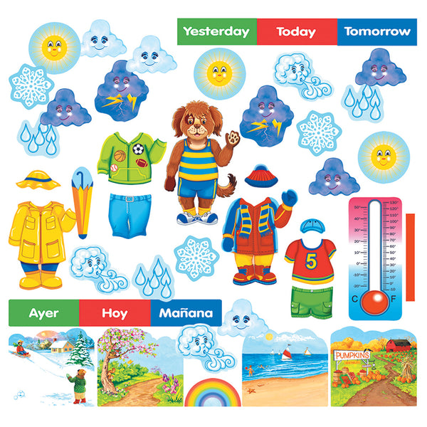 Early Learning-Flannelboard Set-Wally the Weather Dog