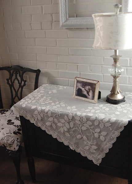 Table Linen-Table Topper-42x42-Heritage Lace-Laurel