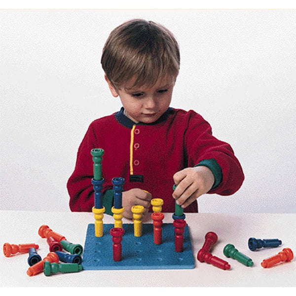 Tall Stacker Pegboard, Base for Tall Stacker Pegs. Board Only, for Ages 2-14 - Seasonal Expressions