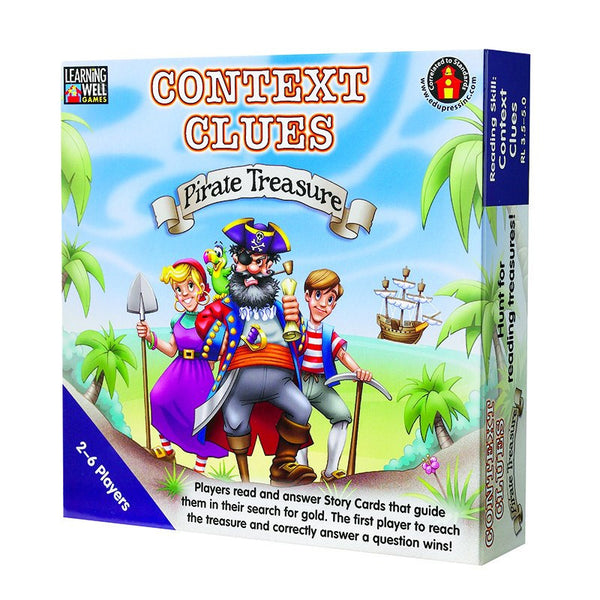 Language Arts-Educational Game-Context Clues Pirate Treasure Blue
