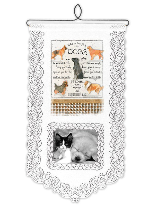 Learn From Dogs-Wall Hanging-Heritage Lace