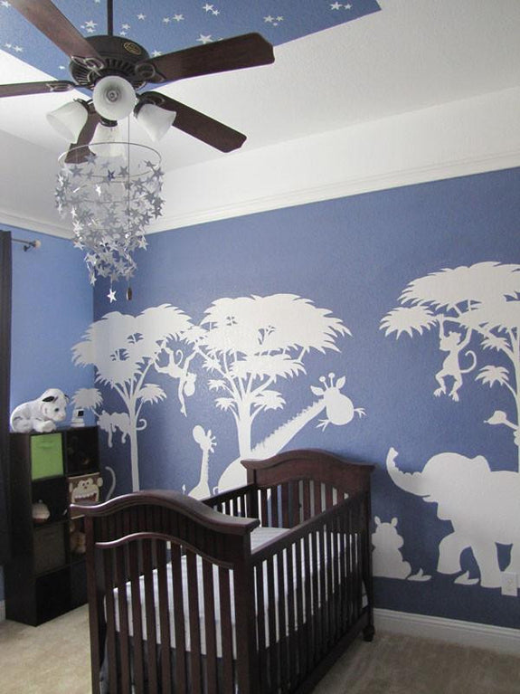 Silhouette Safari, a DIY Paint by Number Wall Mural by Elephants on the Wall - Seasonal Expressions - 2