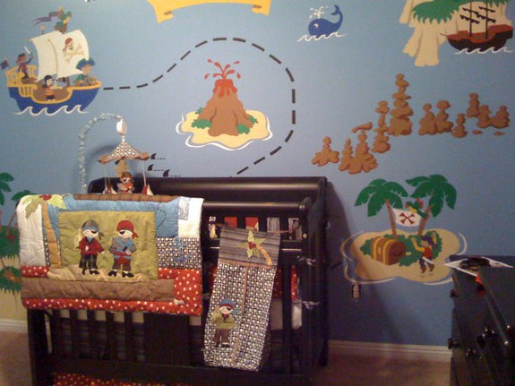Pirate Pete's Treasure Map, a DIY Paint by Number Wall Mural by Elephants on the Wall - Seasonal Expressions - 7