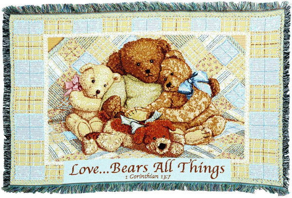 Throw Blanket-35 x 54-Babies-Children-Love-Bear All Things