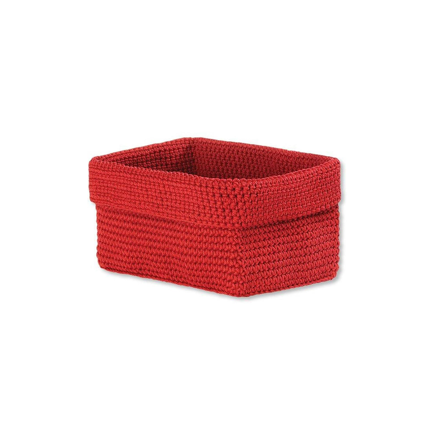 "Set of 2 Mode Crochet Rectangular  8"" x 5"" x 6"" Basket from Heritage Lace - Expressions of Home"