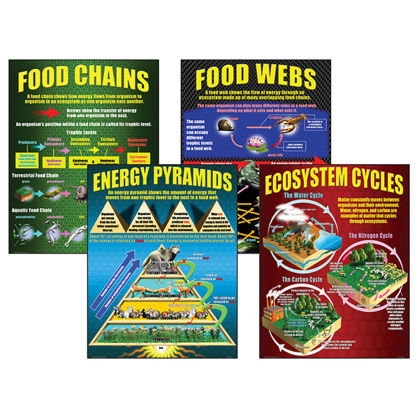 Educational-Bulletin Board Charts-Science-Ecosystems-Food