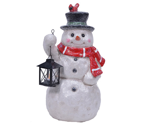 Snowman-Door Greeter-LED Tea Light Lantern