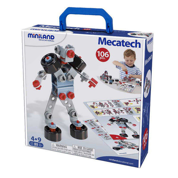 Design and Build-Educational-106 Pieces-Mechanical Construction-Mecatech