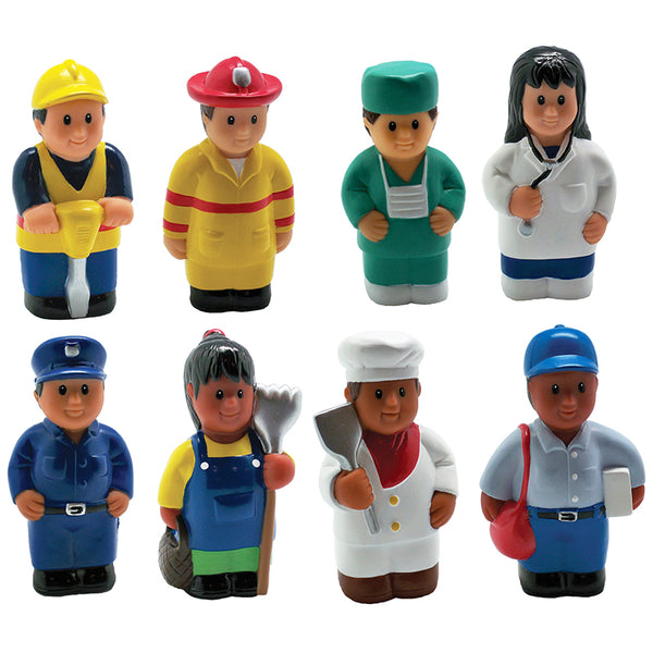 Let's Pretend-Community Helpers-Multicultural Figures-Set of 6