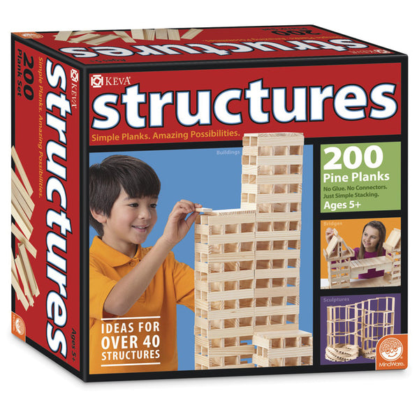 Design and Build-Keva Structures Plank Set-200 Pieces-Educational-Creative Children