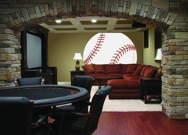 Mega Baseball, a DIY Paint by Number Wall Mural by Elephants on the Wall - Expressions of Home