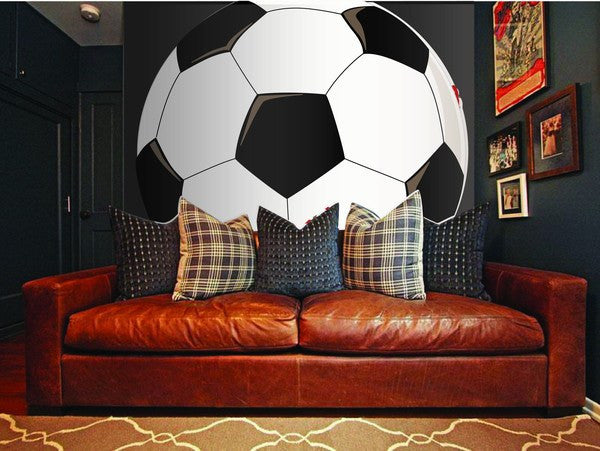 Mega Soccer, a DIY Paint by Number Wall Mural by Elephants on the Wall - Expressions of Home
