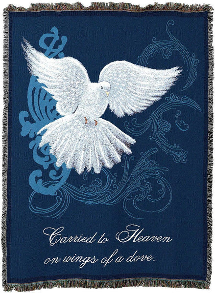 Christian Decor-Throw Blanket-54 x 72-Bereavement-Memorial Dove