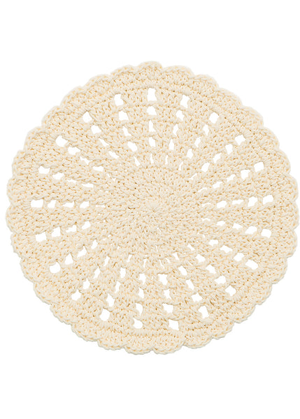 Table Linen-Doily-Mode Crochet-Set of 2-Cream-Heritage Lace